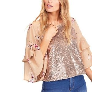 FREE PEOPLE SHIMMY AND SHAKE BLOUSE